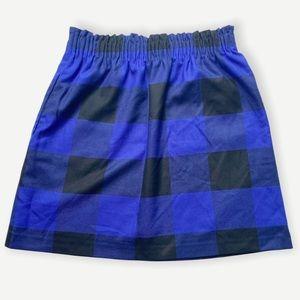 J. Crew Factory Blue Wool Sidewalk Skirt Buffalo 2